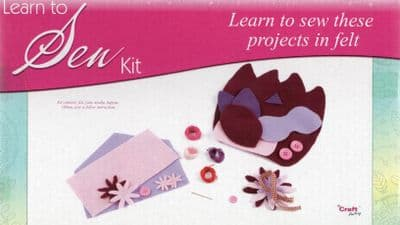 THE CRAFT FACTORY - LEARN TO SEW KIT - LEARN TO SEW PROJECTS IN FELT